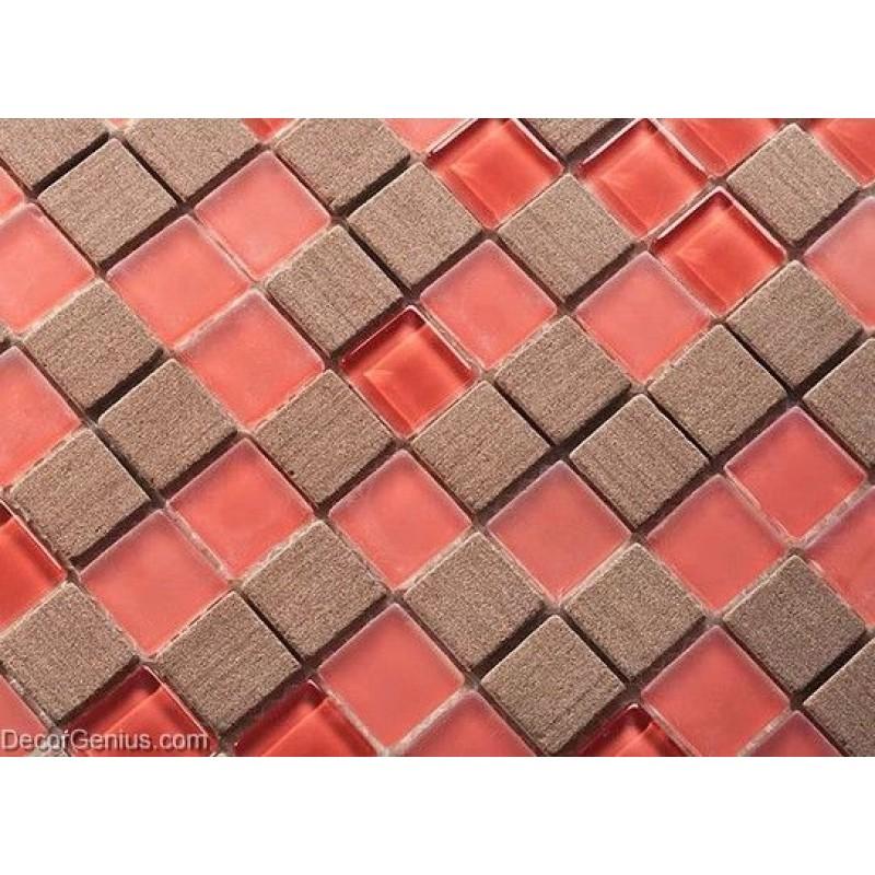 Brown Tile Flooring Kitchen: Red Floor Tiles Home Kitchen Backplash Brown Wall Tiles 3D