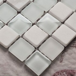 Pure White Mirror Bathroom Tile Stone Glass Crystal Mosaic Tile Floor Diamond Wall Panel
