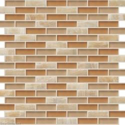 DecorGenius Strip Dark Khaki Mosaic Floor Tile Stone Bathroom Wall Tile Kitchen Panel Tiles
