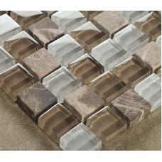 Crystal Hand Made Glass Tile DGWH030 Mirror Stone Bathroom Floor Mosaic Tiles