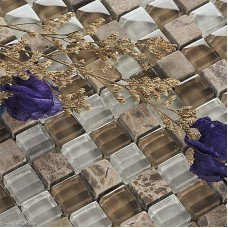 Crystal Hand Made Glass Tile DGWH030 Mirror Stone Bathroom Floor Mosaic Tiles