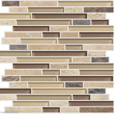 Natural Stone Mosaic Floor Bathroom Tiles DGWH031 Antique 3D Mirror Mosaic Glass Tile for Basksplash