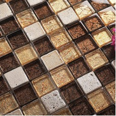 Mirror Diamond Glass Mosiac Tile DGWH032 Floor Tile Stone Mosaic Kitchen Building Tile