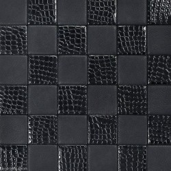 Living Room Black Leather Backsplash Tile High Quality Home Skin Pattern Mosaic Floor Tiles