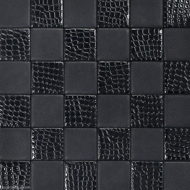 Living Room Black Leather Backsplash Tile High Quality Home Skin