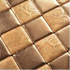 DecorGenius Gold Mosaic Floor Tile Home Living Room Leather Backsplash Wall Tiles