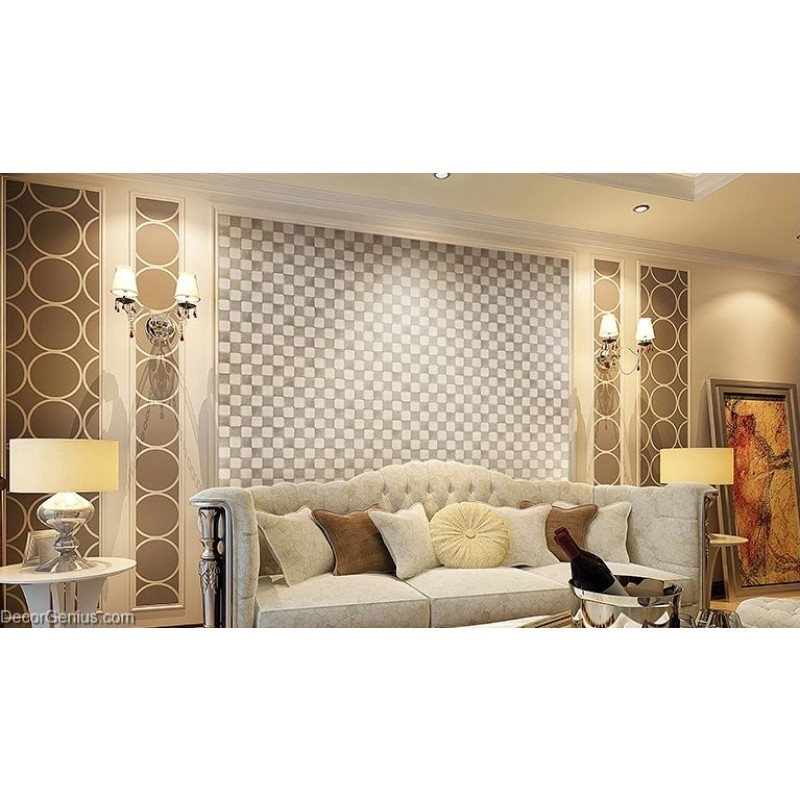 DecorGenius White Grey Leather Wall Tile Living Room Decor Wall Tiles  Mosaic DGWH037 Part 24