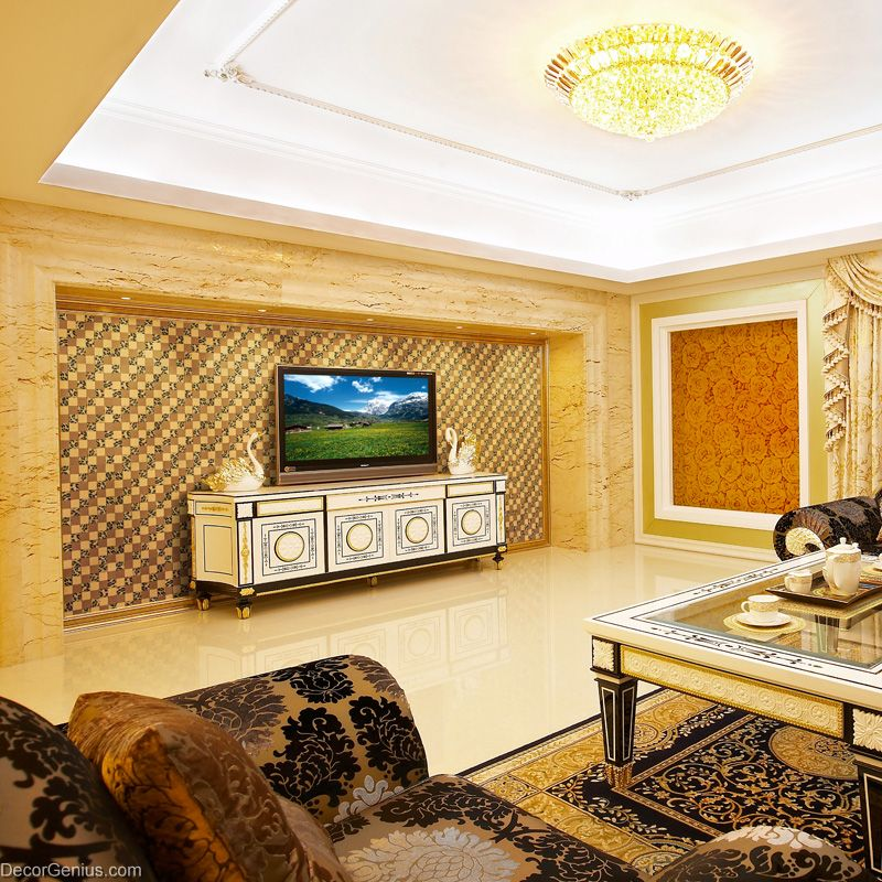 Tile On Living Room Wall: Tiger Leather Living Room Wall Tiles Free Shipping PU Home