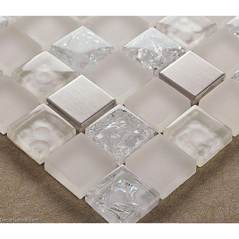Decorgenius Stainless Steel Sink Floor Tile 3d Mirror Crystal Mosaic
