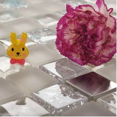 DecorGenius Stainless Steel Sink Floor Tile 3D Mirror Crystal Mosaic Glass Wall Tiles