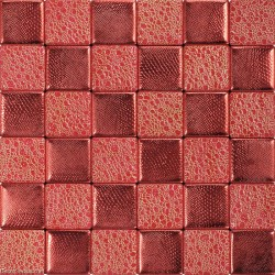 Dark Red Ladies Bedroom Wall Tile DGWH045 Leather Hand Made Mosaic Decoration