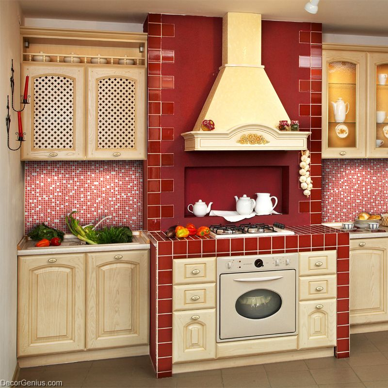 Out of stocks] Dark Red Glass Tile Mirror Tiles Pink Decorative ...