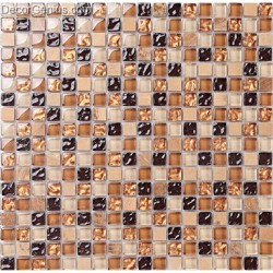Crystal Black Amber Chip Color Natural Discount Glass Floor Tile Edge Stone Wall Surface Mosaic Tiles