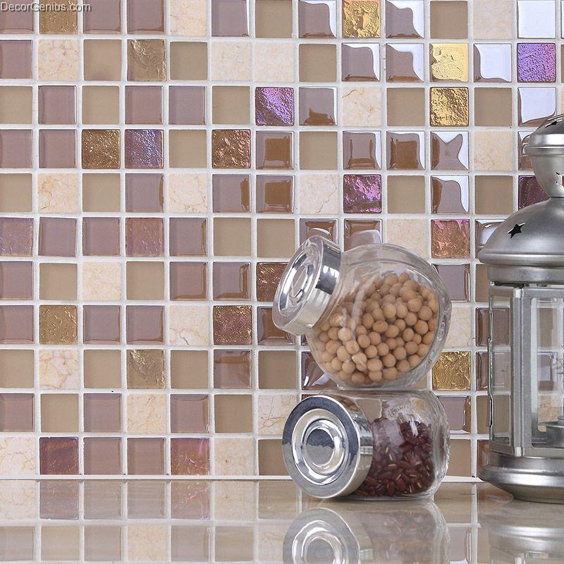 Stone Tile Marble Floor Wall Panel Tiles Mosaic Gl Mirror Tv
