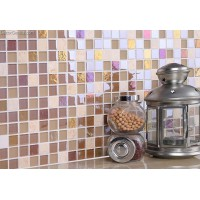 Stone Tile Marble Floor Wall Panel Tiles Mosaic Glass Mirror TV Background Tile Free Shipping