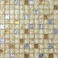 Glass Mosaic Tiles Flower Nailed Pattern Crystal Floor Tile Diamond Kitchen Tile Wallpaper Panel