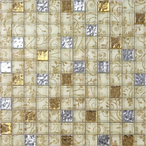 Glass Mosaic Tiles Flower Nailed Pattern Crystal Floor Tile Diamond Kitchen Tile Wallpaper Panel