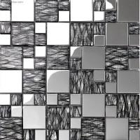 Silver Metal Aluminum Plate Mosaic DGWH062 TV Living room Background Tile Mosaic Wholesale