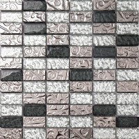 23X48 Crystal Bathroom Mosaic Tiles Blend Metal Easy Install Mosaic Tile Free Shipping