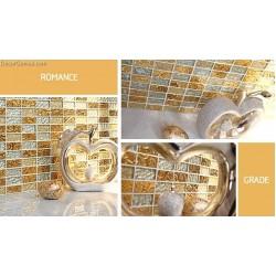 metal backsplash tiles 3D Mirror Tile Mosaic Glass Crystal Yellow Subway Tiles DGWH065