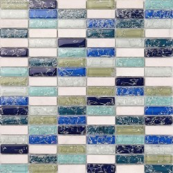 Ice Cracked Glass Kitchen Tile Decoration Bathroom Floor Tiles Wall Panel Backsplash Stone Mosaic
