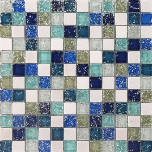 DecorGenius Crystal Ice Cracked Kitchen Background Waterproof Mosaic Tile