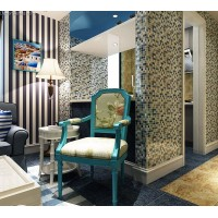 DecorGenius Crystal Ice Cracked Kitchen Background Waterproof Mosaic Tile