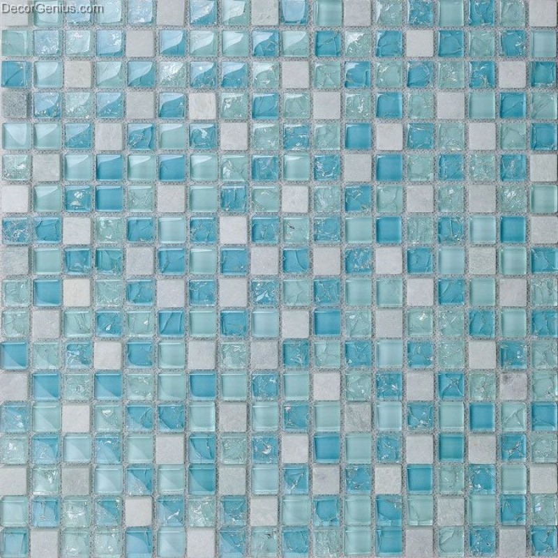 Light blue swimming pool bathroom mosaic wall tile for Blue mosaic bathroom accessories