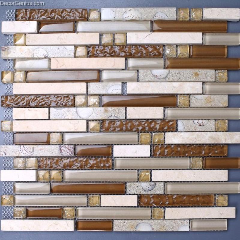 Kitchen Backsplash With Glass Tile Accents: Elegant Marble Stone Home Decor Kitchen Backsplash Tile