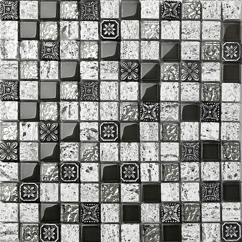 Cool Porcelain Mosaic Wall Tile Decoration Natural Hand Made 3D Glass Backsplash Tiles Review - Minimalist Glass Mosaic Wall Tiles Unique