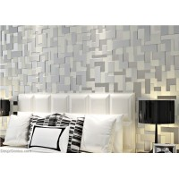 DecorGenius 5 Color Options Light Grey Mosaics Style Decor Wallcovering Fabric Non Woven Wallcovering