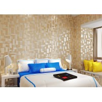 DecorGenius 5 Color Options Light Yellow Mosaics Style Decor Wallcovering Fabric Non Woven Wallcovering