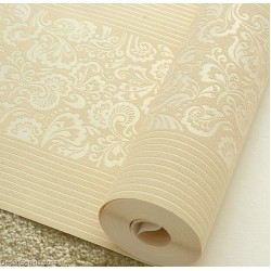 Wedding Wallpaper LT GOLD Flower Stripe 3D Design Home Improvement Wallcover