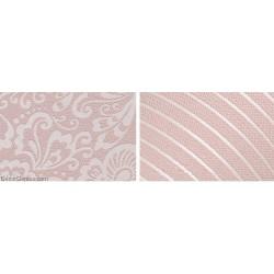Wedding Wallpaper Pink Flower Stripe 3D Design Home Improvement Wallcover