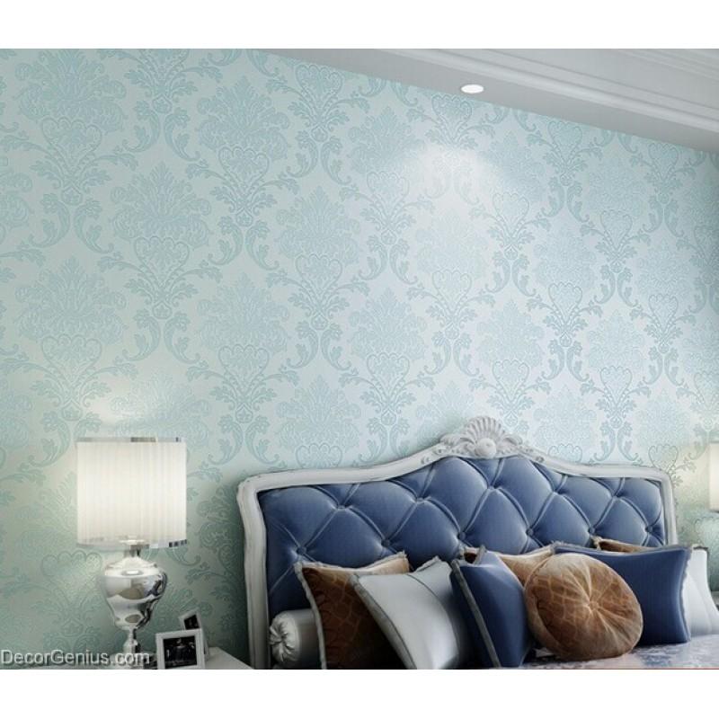 Light Blue Living Room 3D Flower Wallpaper Seasonal Decoration Bedroom Wall  Sticker