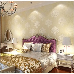 Living Room 3D Flower Wallpaper Seasonal Light Gold Decoration Bedroom Wall Sticker