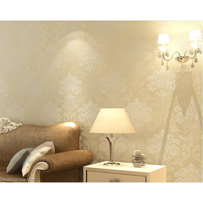 . Living Room 3D Flower Wallpaper Seasonal Light Gold Decoration Bedroom Wall  Sticker