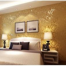 Popular 3D Design DK Gold Bedroom Wallpaper Modern Style DecorGenius DGWP004