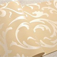 Popular 3D Design Bedroom Wallpaper Light Gold Modern Style DecorGenius DGWP004