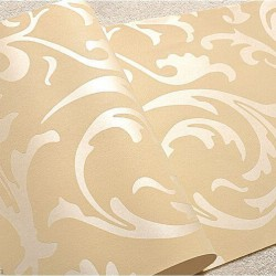 Popular 3D Design Bedroom Wallpaper Light Gold Modern Style DecorGenius DGWP004