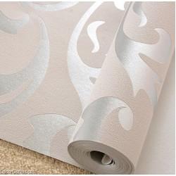 Popular 3D Design Silver Bedroom Wallpaper Modern Style DecorGenius DGWP004