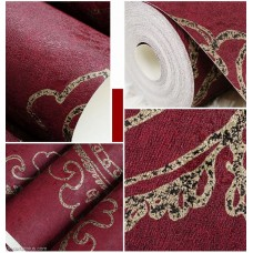 DGWP006 7 Color Classic Europe Style Floral Embossed Natural Wallpapers