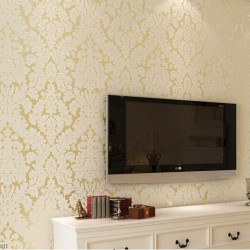 [2 Colors] Bedroom Wallpaper Printed Soft and Smooth Natural 3D Wallcovers