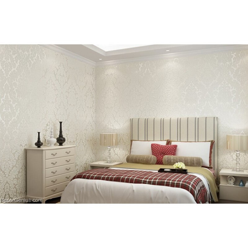 2 Colors Bedroom Wallpaper Printed Soft And Smooth Natural 3d Wallcovers