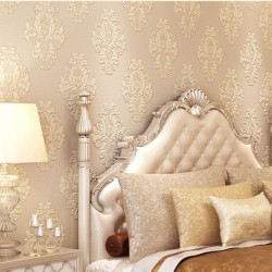 Flower and Stripe Best Coordination LIving Wallpaper Soft and Smooth Pink Natural Wallcovers