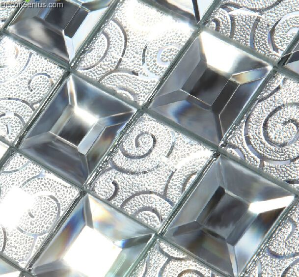 Modern popular glass mirror mosaic tile kitchen mosaic - Mirror mosaic tile backsplash ...