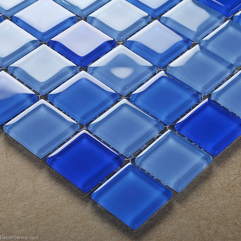 blue swimming pool wall tiles dggm062 glass backsplash glass tile