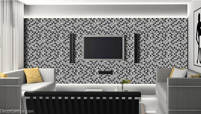 wall tile stickers bathroom tile black grey white glass ceiling glass
