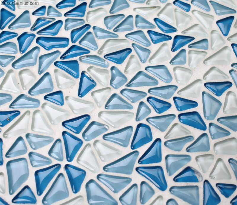 Home Decor Tile: Crystal Blue Pebble-Style Home Decor Wall Tile Modern
