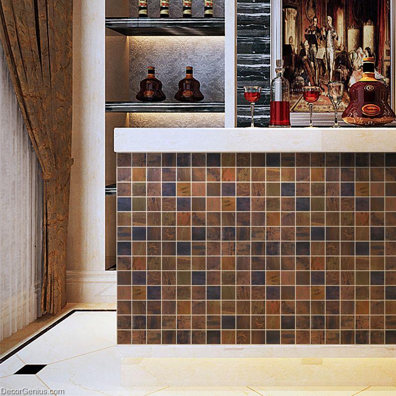 decorative metal wall panel wall art tile wooden like